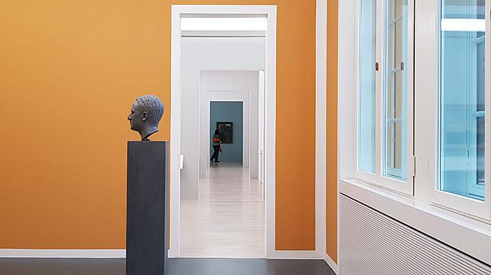 """Räume des Lenbachhaus der Sammlungspräsentation """"Bildschön - Ansichten des 19. Jahrhhunderts"""""""
