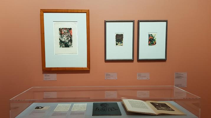 Werke von Alfred Kubin und dem Blauen Reiter im Lenbachhaus in München
