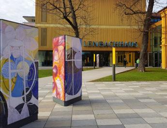 Ausstellung Weltempfänger im Kunstbau im Lenbachhaus in München