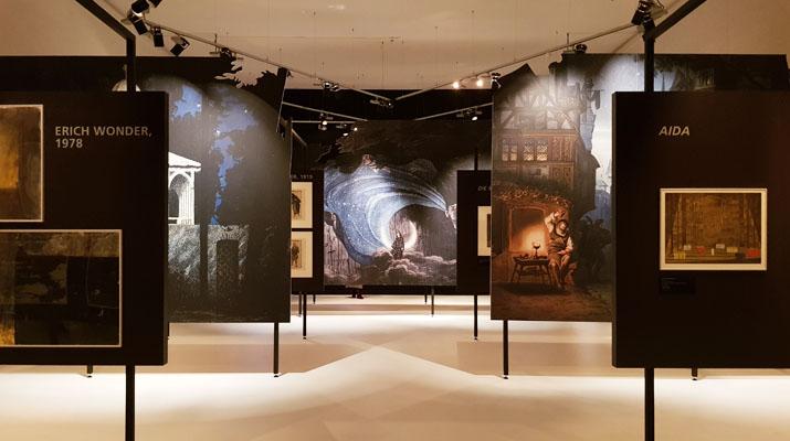 Ausstellungsräume von Vision und Tradition im Deutschen Theatermuseum