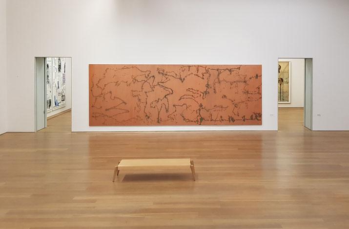 Die Sammlungspräsentation im Untergeschoss des Museum Brandhorst in München zeigt Werke unter anderem von Andy Warhol und Sigmar Polke