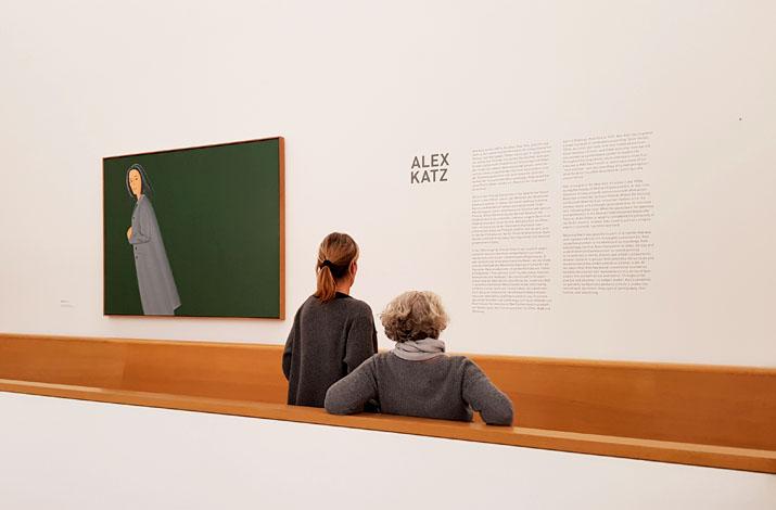 Eingang zur Sonderausstellung Alex Katz im Museum Brandhorst in München