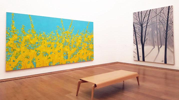 Gemälde von Alex Katz im Museum Brandhorst in München