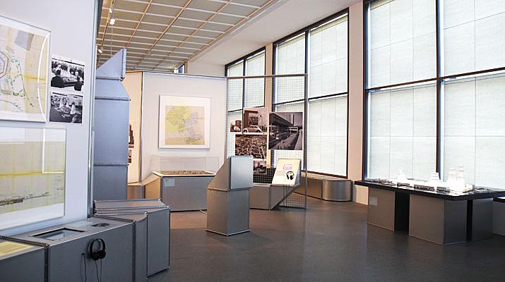 Ausstellungsräume des Architekturmuseums in der Pinakothek der Moderne