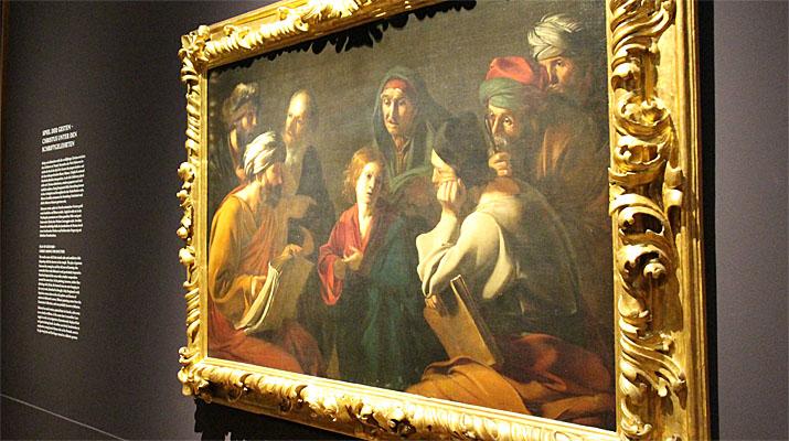 Ausstellung mit Gemälden von Caravaggio und Caravaggisten in der Alten Pinakothek in München