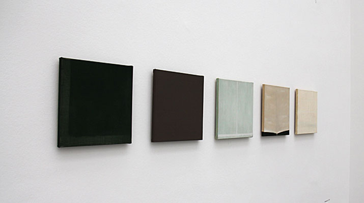 Bildserie in der Ausstellung Raoul de Keyser in der Pinakothek der Moderne in München