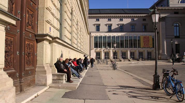 Eingang zur Ausstellung Der Neue Deutsche Film in der Bayerischen Akademie der Schönen Künste in München