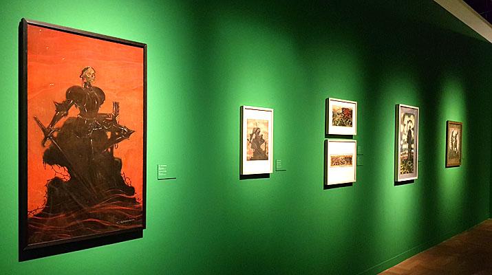 Kunstwerke von Carls Strathmann im Münchner Stadtmuseum in der Ausstellung Jugendstil skurril