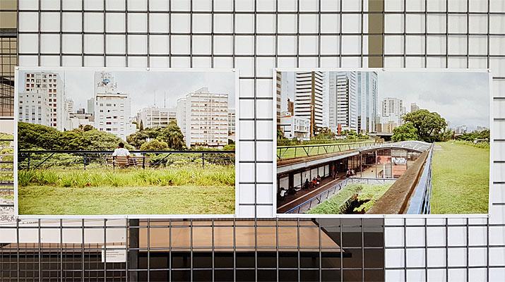 Plakate in der Ausstellung Zugang für alle: São Paulos soziale Infrastrukturen in der Pinakothek der Moderne in München