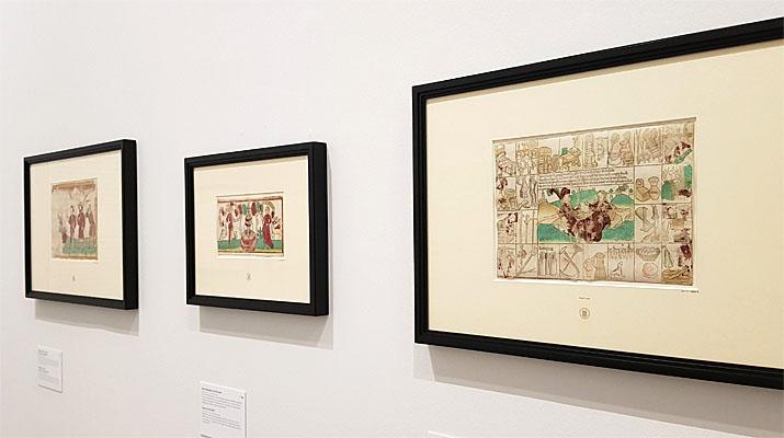 Einblattholzschnitte in der Die Ausstellung Einblattholzschnitte des 15. Jahrhunderts in der Pinakothek der Moderne in München