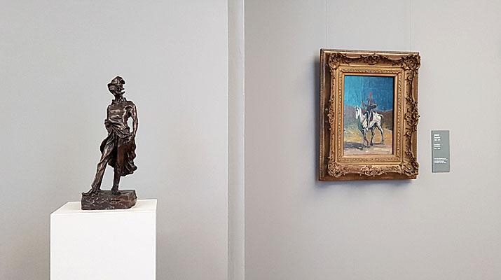 Gemälde in der Ausstellung von Goya bis Manet- das 19. Jahrhundert in der Alten Pinakothek in München