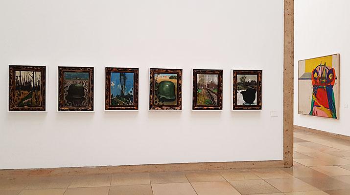 """Gemälde in der Ausstellung Markus Lüpertz. Über die Kunst zum Bild"""" im Haus der Kunst in München"""