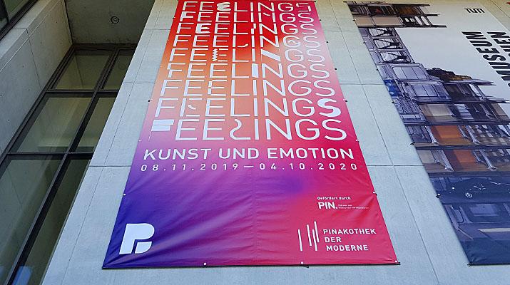 Ausstellung Feelings Kunst und Emotion in der Pinakothek der Moderne in München