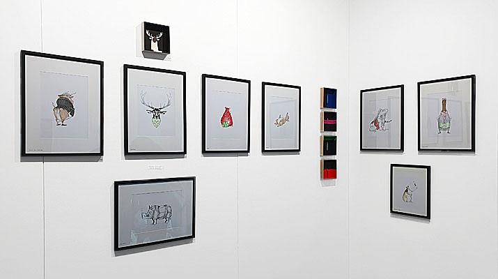 Kunstwerke von Julian Opitz auf der Kunstmesse STROKE Art Fair in München